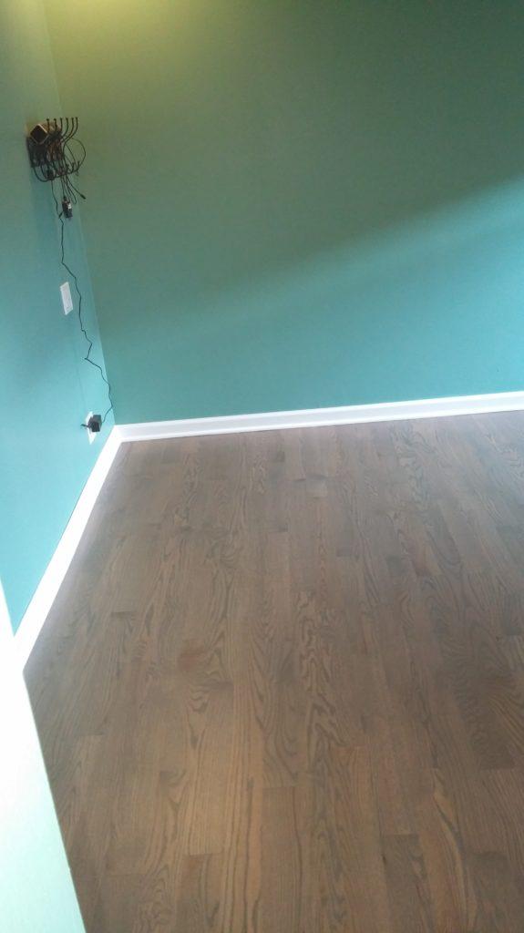 Installing a laminate flooring