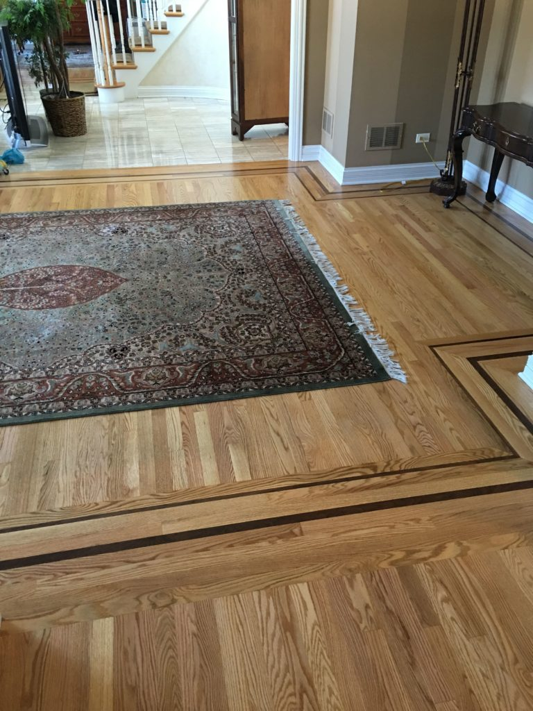 Hardwood wood installation in Dupage county